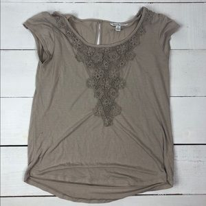 American Eagle Tee with Embroidery Detail